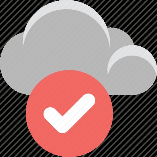 check mark, cloud computing, cloud selected, icloud, tick icon