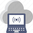 cloud, internet, laptop, wifi, wireless icon