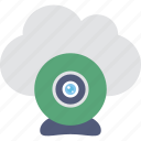 cloud, live chat, multimedia, online video, webcam icon