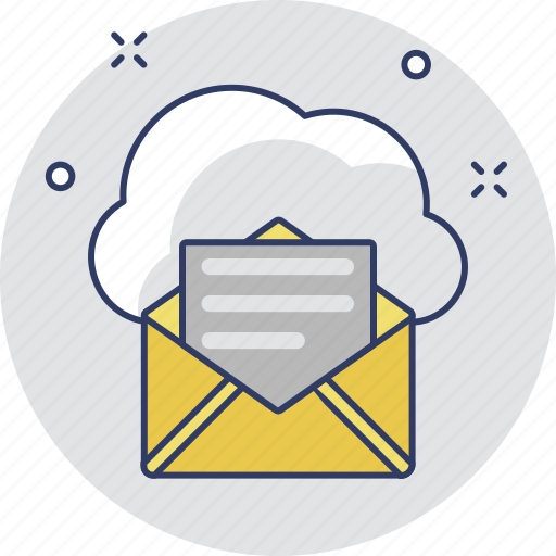 cloud computing, cloud mail, cloud storage, communication, email icon