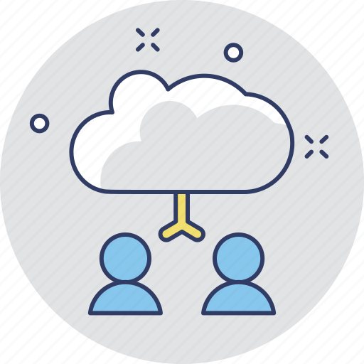 cloud user, communication, developers, networking, user icon