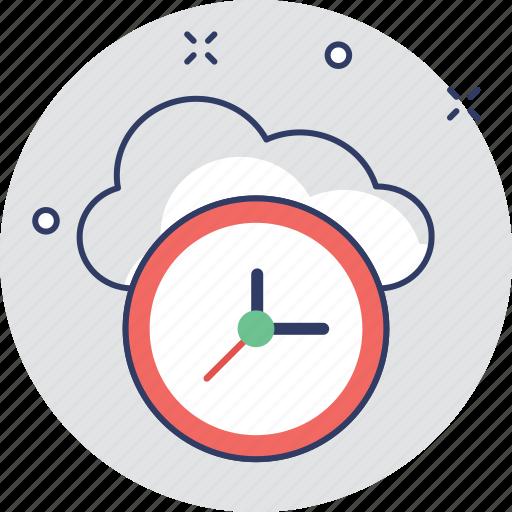 backup, clock, cloud, cloud computing, history icon
