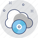 cd, cloud, cloud storage, media, multimedia icon