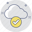 check mark, cloud computing, cloud selected, icloud, tick icon