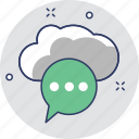 chat bubble, cloud, comment, notification, online chatting icon