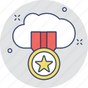 badge, cloud, cloud certification, icloud, seo icon