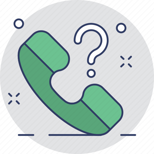 customer service, helpline, question mark, receiver, support icon