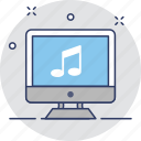 media, monitor, music, screen, song icon
