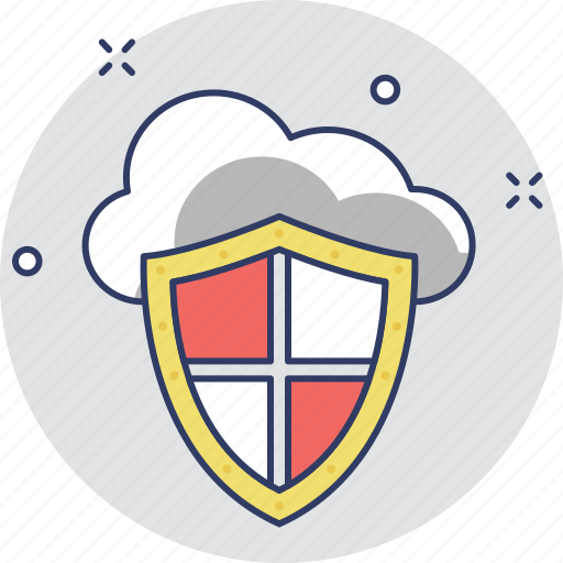 cloud computing, cloud security, firewall, security, shield icon