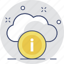 cloud, cloud computing, cloud info, details, information icon