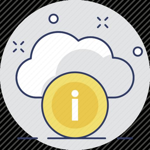 cloud, cloud computing, cloud info, details, information icon