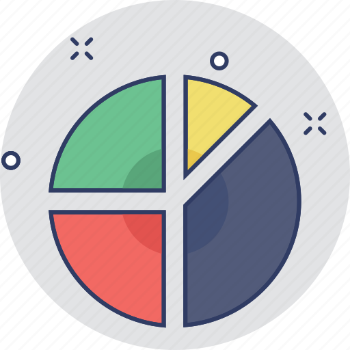 analytics, graph, pie chart, pie graph, statistics icon