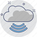 cloud, network, wifi cloud, wireless icon