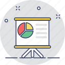 pie chart, presentation, seminar, statistics, training icon