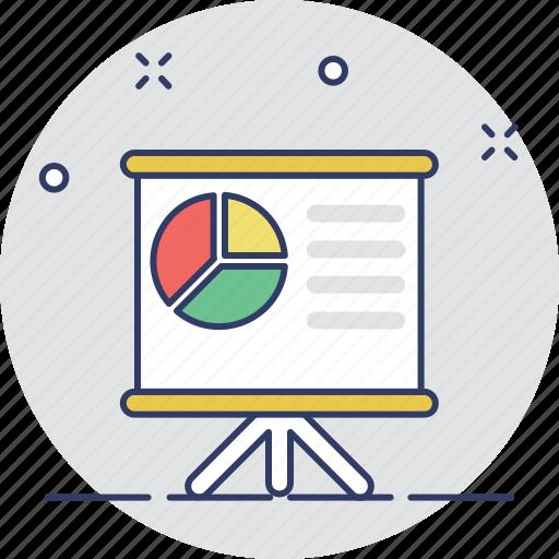 pie chart, presentation, seminar, statistics, training icon