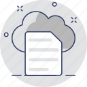 cloud, document, online documents, sky docs, storage icon