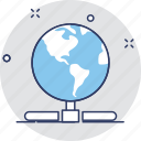 globe, internet, network, server, sharing icon