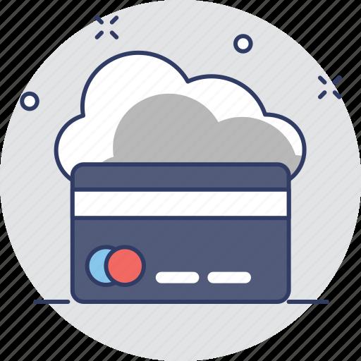 cloud computing, credit card, e banking, e commerce, shopping icon