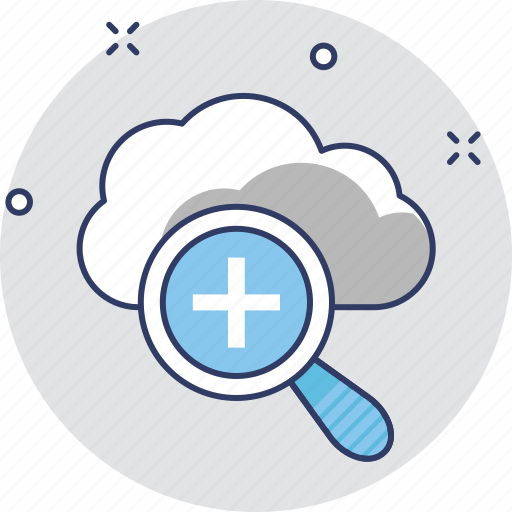cloud computing, cloudsearch, magnifier, view, zoom icon