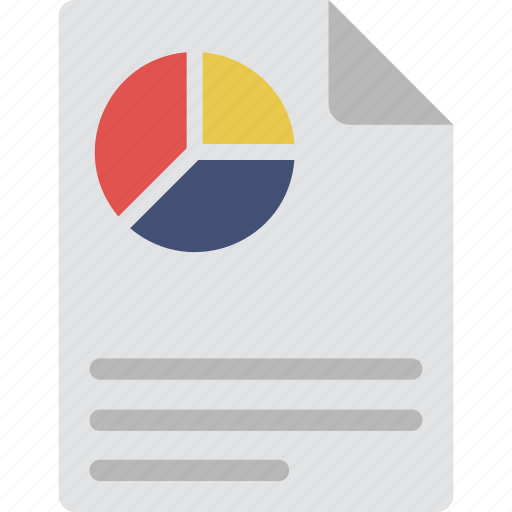 analytics, document, graph report, pie chart, statistics icon