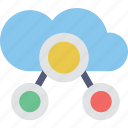 cloud computing, cloud sharing, icloud, networking, storage icon