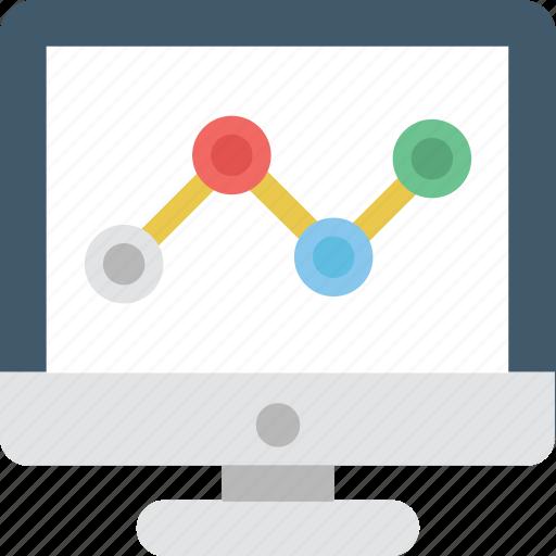 analytics, cloud computing, graph, line chart, online graph icon