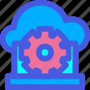 cloud, internet, laptop, settings, website icon