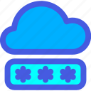 cloud, internet, login, password, security icon