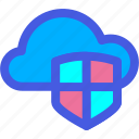 cloud, security, shield icon