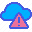 cloud, no connection, warning icon