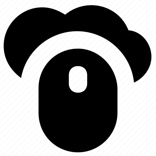 click, cloud computing, connection, mouse, plug and play icon
