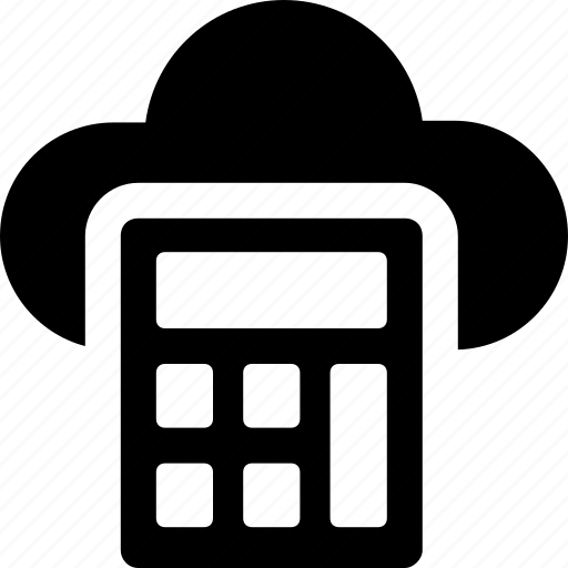 calculator, cloud, cloud computing, network, storage icon