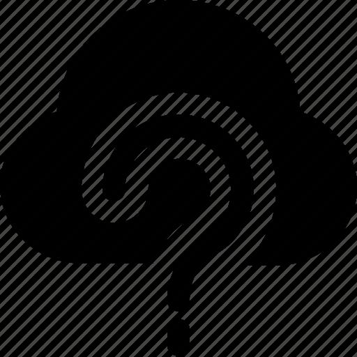 cloud, cloud computing, faq, icloud, question icon