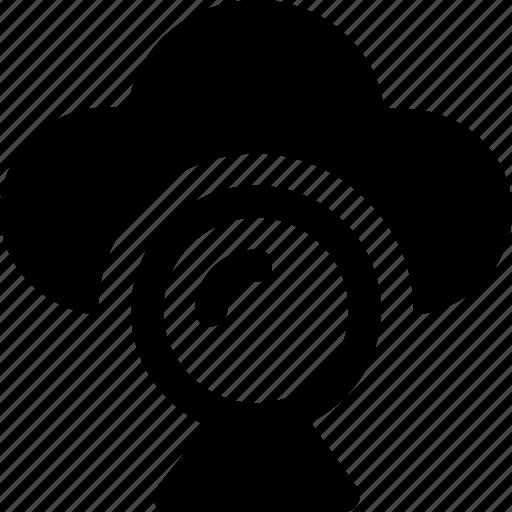 cloud, live chat, multimedia, online video, webcam icon