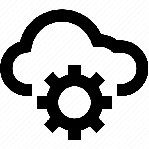 admin panel, cloud, cloud computing, cloud setting, cog icon