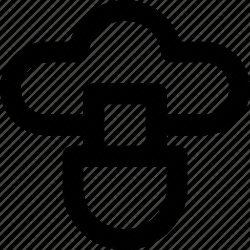 cloud, cloud storage, data storage, icloud, usb icon
