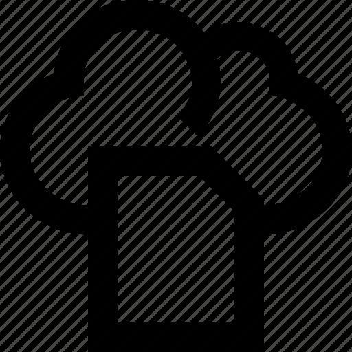 cloud, document, online documents, sky docs, storage icon