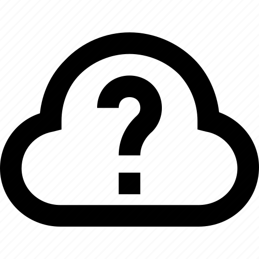 cloud, cloud computing, faq, icloud, question icon