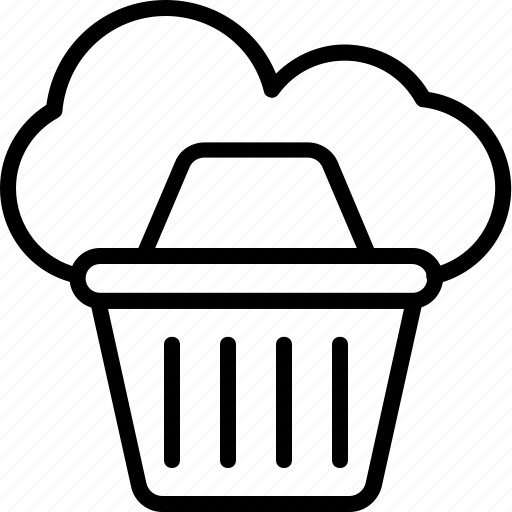 basket, cloud, estore, online shopping, shopping icon
