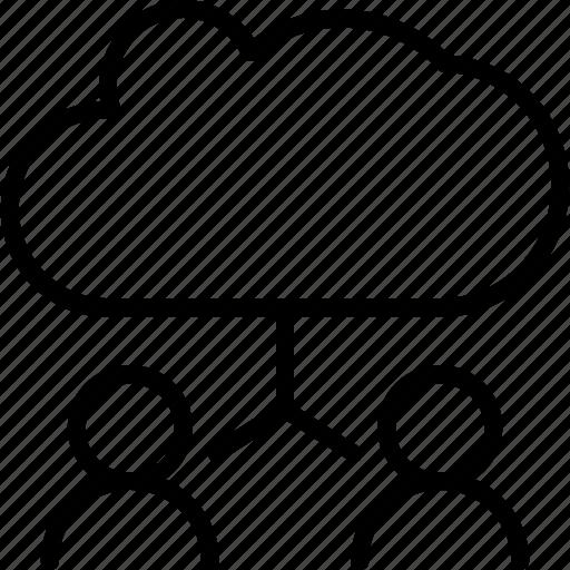 cloud user, communication, developer, networking, user icon