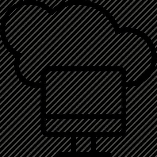 cloud computing, cloud connection, cloud drive, cloud network, cloud service icon