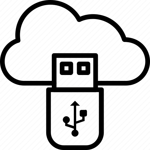 cloud, cloud storage, data storage, icloud, usb icon