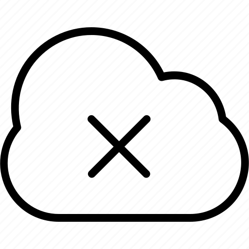 cloud computing, cloud removed, delete, disconnected, icloud icon