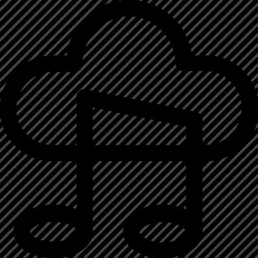 cloud, itunes, media, music, online music icon