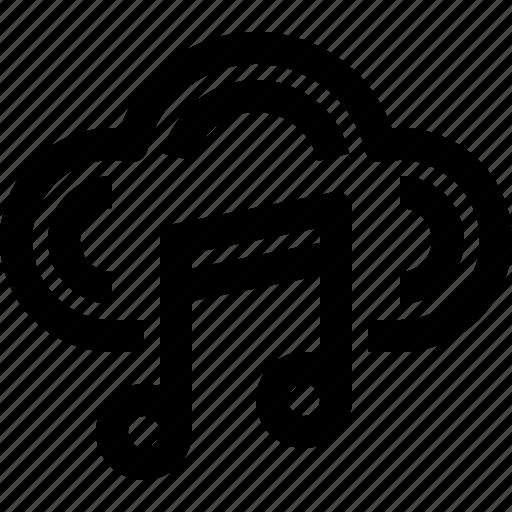 audio, cloud, computing, digital, multimedia, music, sound icon