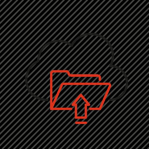 cloud, data, folder, information, storage, upload icon