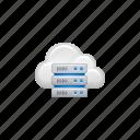 cloud, cloud computing, computing, data, database, server icon