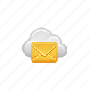 cloud, cloud computing, computing, data, email, envelope, mail icon