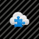 cloud, cloud computing, computing, puzzle, puzzle piece icon
