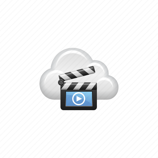 Clapper, cloud, cloud computing, computing, film slate, video icon - Download on Iconfinder